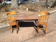 Maple Kitchenette Table w/ 2 Chairs