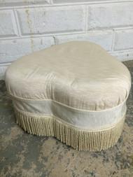 Vintage Silk Ottoman / Footstool