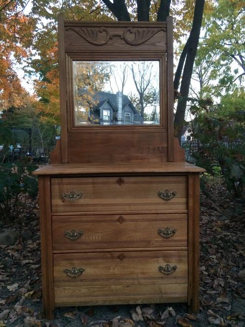 Antique Eastlake 3 Drawer Dresser W Mirror Forgotten