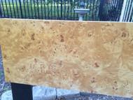 King Size Burled Maple Headboard