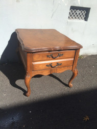 French Provincial Oak End Table