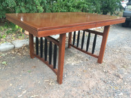 Mid Century Modern Dining Table w/ Butterfly Leaf