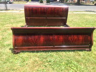 King Size Flame Mahogany Sleigh Bed