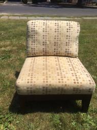 Mahogany Wood Frame Slipper Chair