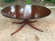 Antique Oval Mahogany Dining Room Table