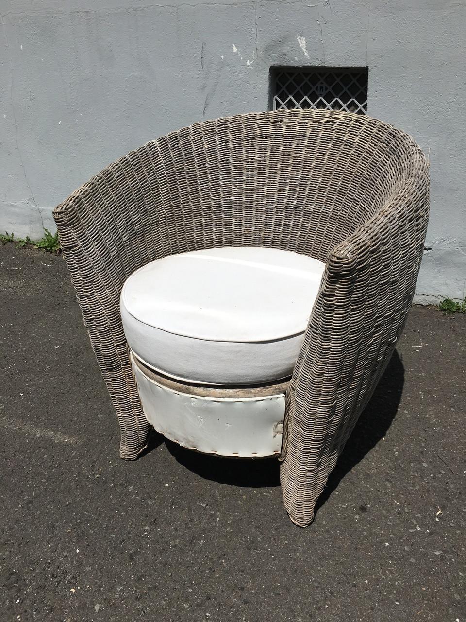 round wicker lounge chair forgotten furniture. Black Bedroom Furniture Sets. Home Design Ideas