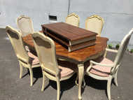 Thomasville 9FT French Provincial Dining Table w/ 6 Chairs