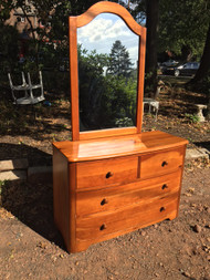 4 Drawer Pine Dresser w/ Mirror