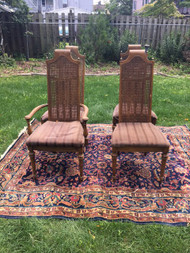 Set of 4 French Fruitwood Chairs