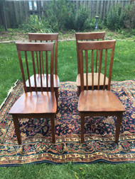 Set of 4 Modern Cherry Dining Chairs