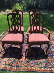 Set of 4 Infinity Back Cherry Dining Chairs