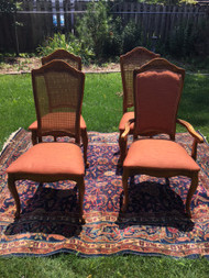 Set of 4 Caned French Dining Chairs