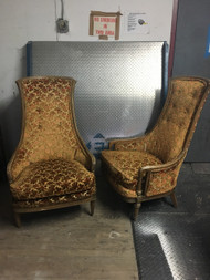 Pair of Cherry Throne Chairs