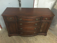 Antique Mahogany  Bowfront Dining Room Buffet