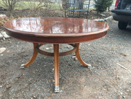"54"" Round Inlaid Dining Table"