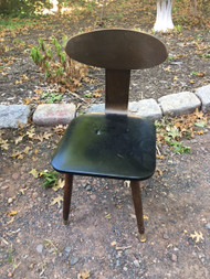 Mid Century Modern Walnut / Black Desk Chair