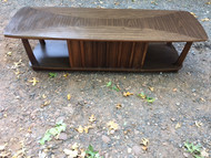 Mid Century Modern Walnut and Formica Coffee Table