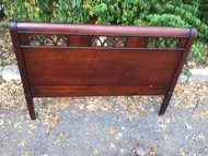 Antique Full Size Mahogany Headboard