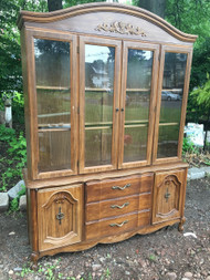 5ft French Provincial China Cabinet