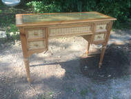 Country Desk with Glass Top