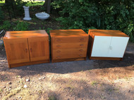 Danish Modern 3pc Teak Entertainment Cabinet by Domino Mobler