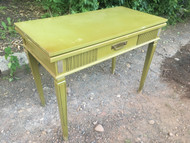 Vintage Green Compact Dining Table - 7ft Extendable