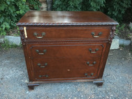 Antique Mahogany Carved 4 Drawer Dresser