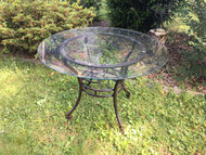 "45"" Round Glass Patio Table"