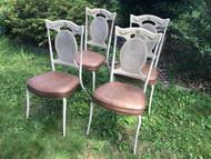 Set of 4 Indoor Outdoor Patio Chairs