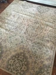 Broyhill Light Green / Creams approx 10'x8'