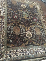 Dark Brown / Tan / Cream 10' x 8' Area Rug