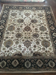 "Hand Tufted 100% wool Beige/Black Oriental Rug 7'9"" x 9'9"""