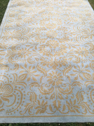 Surya 100% Wool Made in India Lt Blue / Gold 9' x 13' Area Rug