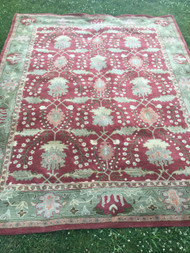 Pottery Barn Franklin Red / Green Area Rug 8' x 10'