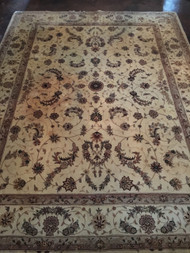 10.5' x 8' Brown / Cream Area Rug