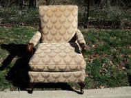 Antique Swag Upholstered Arm Chair