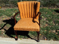 Antique Cherry Queen Anne Arm Chair