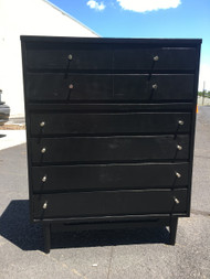 MCM Black Tall 6 Drawer Dresser