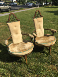 Pair of Vintage Throne Chairs