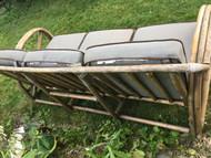 Copy of Bamboo Patio Sofa w/ Grey Cushions