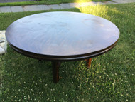"62"" Round Oak Dining Table"