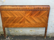 Antique Art Deco Waterfall Full Size Headboard