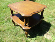 2 Tier French Provincial Foyer Table