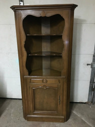 Colonial Maple Corner China Cabinet