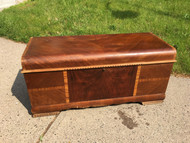 Antique  Art Deco Waterfall Cedar Chest