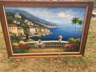 Framed 6ft x 4ft Italy Scenic Painting