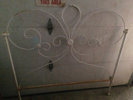 Antique Iron Full Size Headboard and Footboard