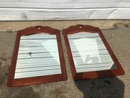 Pair of Solid Rock Maple Mirrors