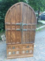 Tudor Revival Armoire