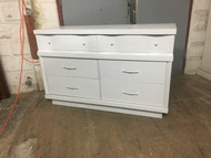 White Modern 6 Drawer Dresser